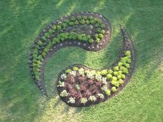 Yin and Yang in landscaping for pathway to meditation garden.