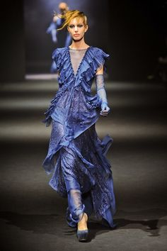 Gorgeous color, and love the flow. John Galliano via Fashionista