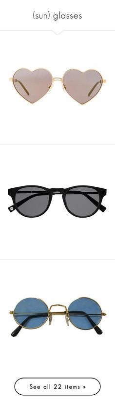 """(sun) glasses"" by ladadelrey ❤ liked on Polyvore featuring accessories, eyewear, sunglasses, glasses, metal frame glasses, wildfox eyewear, wildfox, wildfox sunglasses, metal frame heart sunglasses and fillers"