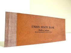 Vintage 1920's Checkbook Ledger for Altered Art, Banking Collectors