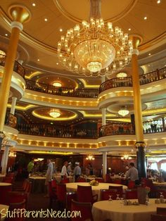 The main dining room on the Royal Caribbean Freedom of the Seas.