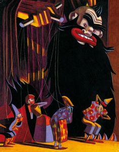 Pinocchio by Lorenzo Mattotti Denis Zilber, Lorenzo Mattotti, Types Of Puppets, Bd Art, Italian Artist, Art For Art Sake, Art Graphique, Pencil Illustration, Pictures To Draw