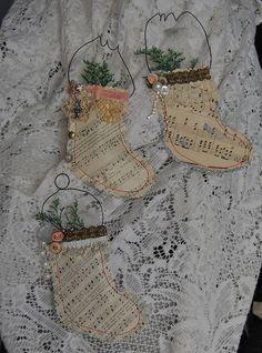 Sheet music stockings.