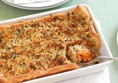 Smoked Chicken & Kumara Pie with Herb & Garlic Crumble recipe - Easy Countdown Recipes