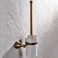 Toilet+Brush+Holder+Antique+Brass+Wall+Mounted+410*148mm(16.14*5.82inch)+Brass+Antique+–+AUD+$+71.91