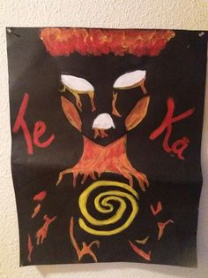 Restore the heart of Te  Fiti game. Make your own with poster board, paint or any other materials you have around the house. Can also print and blow up a picture of Te Ka from Google images. Make sure the spiral  is large enough. Original theme idea:Gen.Pierce thanks for pinning!!