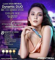 Celebrate Effortless & Natural Beauty with the Queen, Kathryn Bernardo X DD Stick. Available Cash Delivery nationwide. Other payment options: Credit Card/Online Banking/Pera Padala Hotline: 09755869823 Everyday Make Up, Sunscreen Spf 50, Cosmetics Industry, Minimize Pores, Skin Brightening, Beauty Shop, Beauty Care, Whitening, Concealer