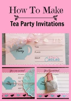 How to Make Tea Party Invitations. This invitation can be used in several different programs such as word, publisher and photoshop elements.