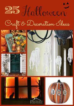 Love decorating for halloween! 25 Halloween Craft & Decoration Tutorials