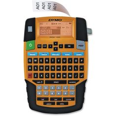 """Dymo Rhino 4200 Label Maker for Security and Pro A/V - Label, Tape - 0.24"""", 0.35"""", 0.47"""", 0.75"""" QWERTY, Barcode Printing"""