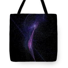 Ballerina Abstract Fractal Tote Bag by Marina Usmanskaya for life style.    The tote bag is machine washable, available in three different sizes, and includes a black strap for easy carrying on your shoulder.  All totes are available for worldwide shipping and include a money-back guarantee.  Weightless creature flying in space.