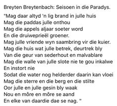 Afrikaans, Blessings, Poems, Van, School, Quotes, Quotations, Poetry, Verses