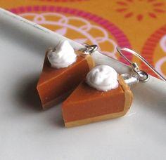 Pumpkin+Pie+Earrings++Thanksgiving+Earrings+by+OneElf+on+Etsy,+$13.50