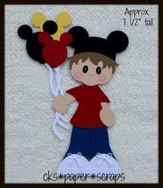 Disney Mickey Balloons Boy KID Scrapbook Paper Piecing