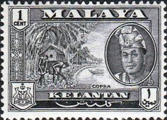 Kelantan 1963 SG 96 Copra Fine Mint SG 96 Scott 84 Other British Commonwealth Empire and Colonial stamps Here