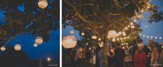 Una boda muy elegante. | iluminacion con velas colgadas en arboles para bodas de tarde