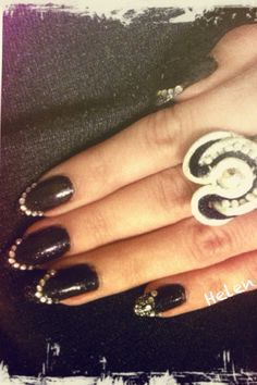 Chanel inspired nails