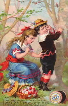 In the late 1800's both the Clark and Coats families had factories in the United States and selling agents representing their threads. One popular form of advertising of the day were trade cards.Advertising trade cards promoted the new thread.The original cards were issued in the late 1800's and featured children, flowers, and other popular art …