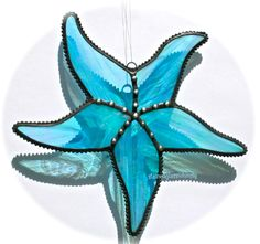 Stained Glass STARFISH SuncatcherWispy by stainedglasswhimsy