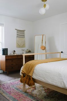bohemian bedroom styling