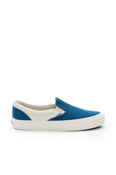 Vans Vault, OG Classic Slip-On LX Enjoy free ground shipping on all full price Vans, Vans Vault, and Vans for OC products. Sale items do not apply., Unisex, US men's sizing, Round toe, Elasticated side accents, Padded collar, Canvas upper, Canvas lining, Original waffle rubber outsole, Imported