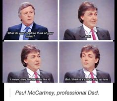 'Paul McCartney, professional Dad'