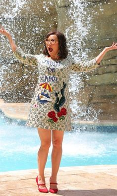 Jennifer Tilly had a splash in the pooll at the Seminole Hard Rock Hotel & Casino in Hollywood, Florida during her week stay at the resort before playing in the Seminole Hard Rock Poker Open Charity Series of Poker and