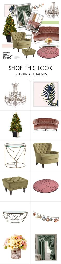 """#247) COLORFUL CHALLENGE ACCEPTED: GREEN & BLUSH"" by fashion-unit ❤ liked on Polyvore featuring Improvements, Old Hickory Tannery, Arteriors, Pier 1 Imports, Jayson Home, Elrene Home Fashions, colorchallenge and greenandblush"