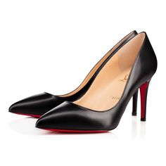 6101f9c7c116 Pigalle 85 Black Leather - Women Shoes - Christian Louboutin