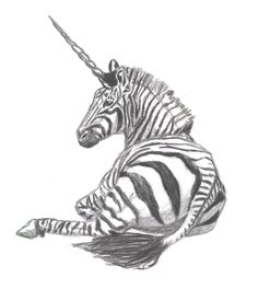 Zebra Unicorn by lil-Dose on DeviantArt Zebra Drawing, Pony Drawing, Tumblr Drawings, Cute Drawings, Fantasy Creatures, Mythical Creatures, Yorky, Unicorn Pictures, Drawing Wallpaper