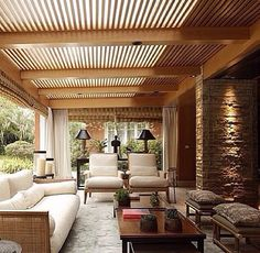 Backyard sitting area