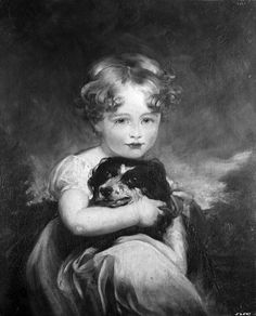 """Sir Thomas Lawrence (1769–1830), """"True Love (A Little Girl and Her Dog),"""" 19th century. Oil on canvas, 24 x 20 in. Photographed in 1955 in a private collection, New York. The Frick Collection / Frick Art Reference Library Photoarchive."""
