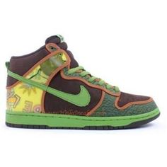 size 40 2d833 ad70b 305050 231 Nike Kids Dunk High SB De La Soul Baroque Brown Altitude Green  K01012 Sneaker