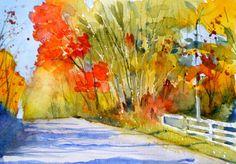"Steve Penberthy: ""Watercolor Sketch - Defiance Road"""