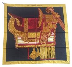 a6a7584005 Hermes Selle D'Apparat Marocaine Silk Scarf Hermes Paris, Square Scarf,  Silk Scarves