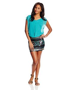As U Wish Juniors Blouson Top Sequin Skirt Dress, Jade Bronze, Medium As U Wish http://www.amazon.com/dp/B00K8ATASU/ref=cm_sw_r_pi_dp_vZcowb09VZP8S