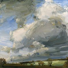 Oliver Akers Douglas March skies 2004 oil on canvas 40 x 40 in