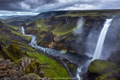 """""""ThewaterfallHáifoss"""" by arnarbergurgujnsson! Find more inspiring images at ViewBug - the world's most rewarding photo community. http://www.viewbug.com/contests/landscapes-of-iceland-photo-contest/57057893"""