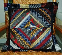 Necktie and T-shirt Throw Pillows - Goose Tracks Quilts