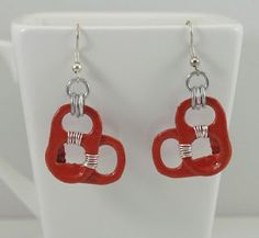 Tabsolute: day 53 red heart shaped pop tab earrings