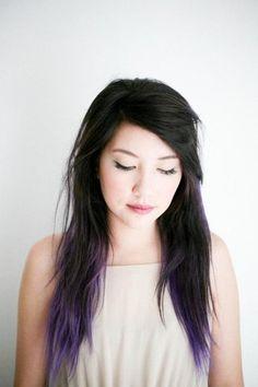 Hair color along fringes