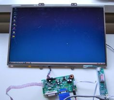 Turn old laptop screen into new display... would be cool wrapped in wood. This tells you how to do just that.