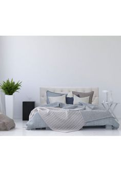 Get the latest on trend furniture piece! Comes in 3, easy to style, neutral colourways that fit with any bedroom décor scheme  Crafted from a sturdy Pinewood and Plywood frame and upholstered with a linen-blend fabrication Fits a 167cm King Mattress Comes with 2 feet to lift the headboard slightly off the ground  W 1750mm x H 1200mm x D 80mm   Please note we cannot currently deliver this product to Rural Addresses or to Australia