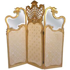 Beautiful French Carved Giltwood Floor Screen 19th Century | From a unique collection of antique and modern screens at http://www.1stdibs.com/furniture/more-furniture-collectibles/screens/