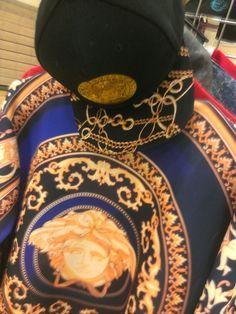 Medusa head custom snapback & shirt/ Versace swag