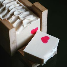 Red Heart Soap by Linda with Mimi and Boo