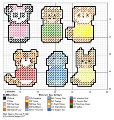 SHIRT TALES CHIBIS FOR PLASTIC CANVAS CREATIONS