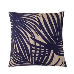Found it at Wayfair - Embroidered Palm Leaf Throw Pillow
