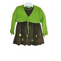 Платье +Болеро  Roinsal babine зеленые цветы (2 года)