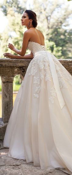 I am simply IN LOVE with this gown & with the color!!! I just wish it had sleeves!